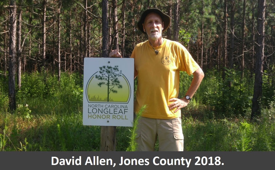Photo of 2018 Honor Roll Recipients: David Allen, Jones County